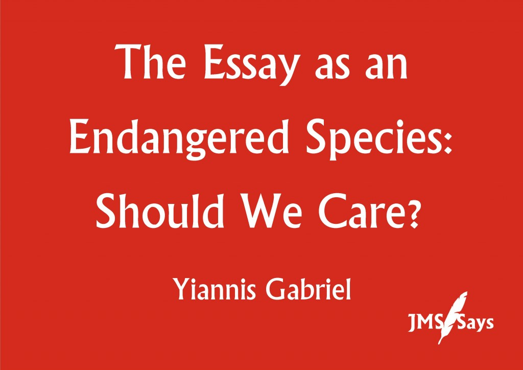 Best English Essays The Essay As An Endangered Species In An Essay What Is A Thesis Statement also Thesis Statement For An Essay The Essay As An Endangered Species Should We Care  Society For  English Essay Topics For Students